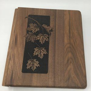 Wooden Notebook Binder 6 Ring Engraved